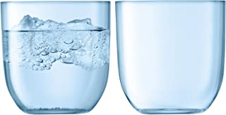 LSA International Hint Tumbler Glass, 13.5 fl. oz, Pale Turquoise