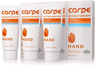 Carpe Antiperspirant Hand Lotion (Pack of 3), A Dermatologist-Recommended, Non-irritating, Smooth Lotion That Helps Stop Hand Sweat, Great for hyperhidrosis or Excessive Sweat
