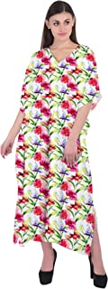 RADANYA Cotton Floral Boho Gypsy Caftan Kaftan Women's Cocktail Maxi Long Dress