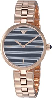 Emporio Armani Women's Two-Hand Rose Gold-Tone Stainless Steel Watch AR11220