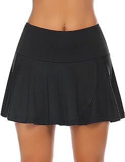COOrun Dames tennisrok broekrok zomer minirok rok rok met broek eronder zwart zomerrok S-XXL