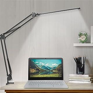 LED Desk Lamp, Adjustable Swing Arm Desk Lamp with Clamp, Dimmable Desk Light Eye-Care Table Light, Memory Function, 3 Col...