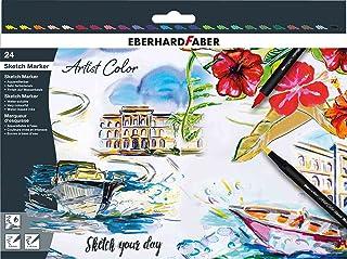 Eberhard Faber 558224 Artist Color Sketch zestaw markerów z podwójną końcówką, w pudełku kartonowym, do rysowania, szkicow...