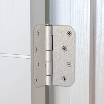 "Design House 181594 3-Pack Hinge 4"", Satin Nickel"