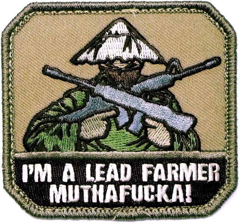 Patch shop I'M A LEAD Color Max 52% OFF FARMER ARID MUTHAA