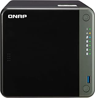 QNAP TS-453D-8G-US 4 Bay NAS, Intel Celeron J4125 Quad-core 2.0GHz with 8GB DDR4 RAM and High-Speed 2.5GbE Network