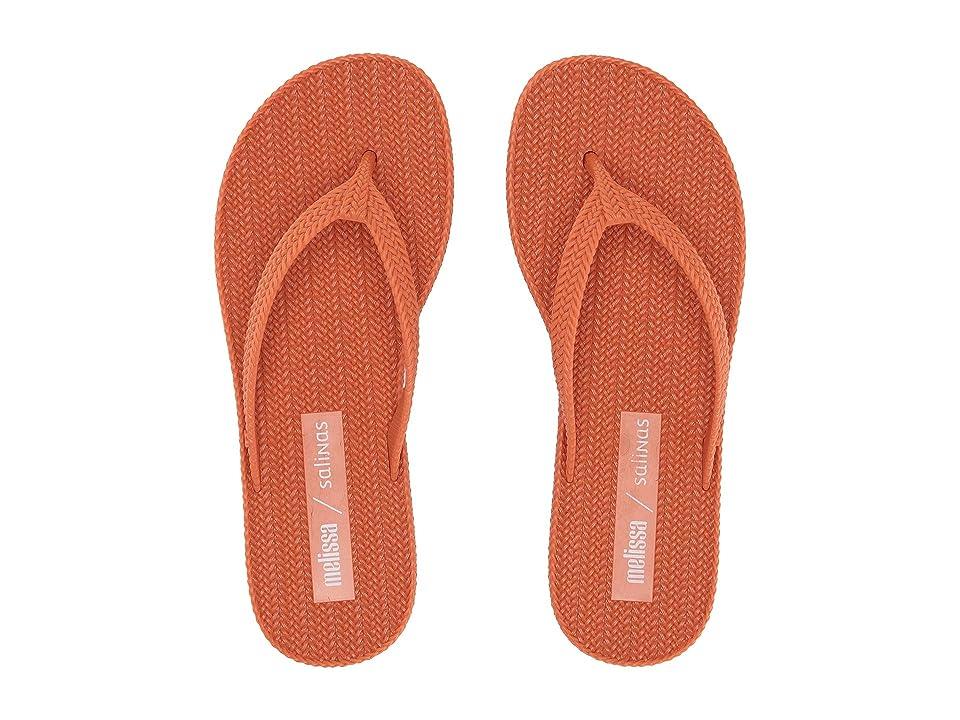 + Melissa Luxury Shoes x Salinas Braided Summer Flip Flop  Red