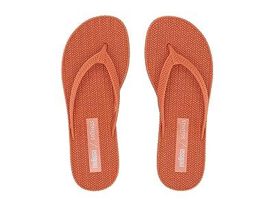 + Melissa Luxury Shoes x Salinas Braided Summer Flip Flop (Red) Women