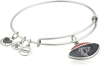 Alex and Ani Women's Color Infusion Atlanta Falcons Football II EWB Bracelet, Rafaelian Silver, Expandable