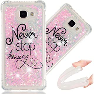 A5 2016 Case, 3D Cute Painted Glitter Liquid Sparkle Floating Luxury Bling Quicksand Shockproof Protective Bumper Silicone...