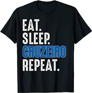 Cruzeiro T-Shirt Funny Eat Sleep Repeat Soccer Brazil