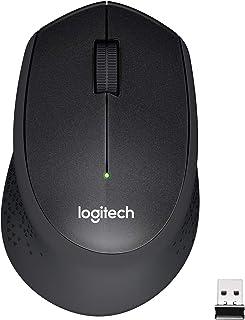Logitech M331 SILENT PLUS Wireless Mouse with Nano Receiver -International Version- (Black)