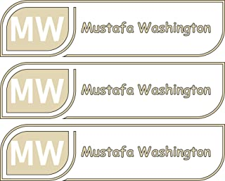 All-purpose, Custom Name Labels, Name And Initials, Multiple Colors And Sizes, Waterproof, Microwave And Dishwasher Safe, Washer And Dryer Safe, Custom Stickers, Custom Name Label For School