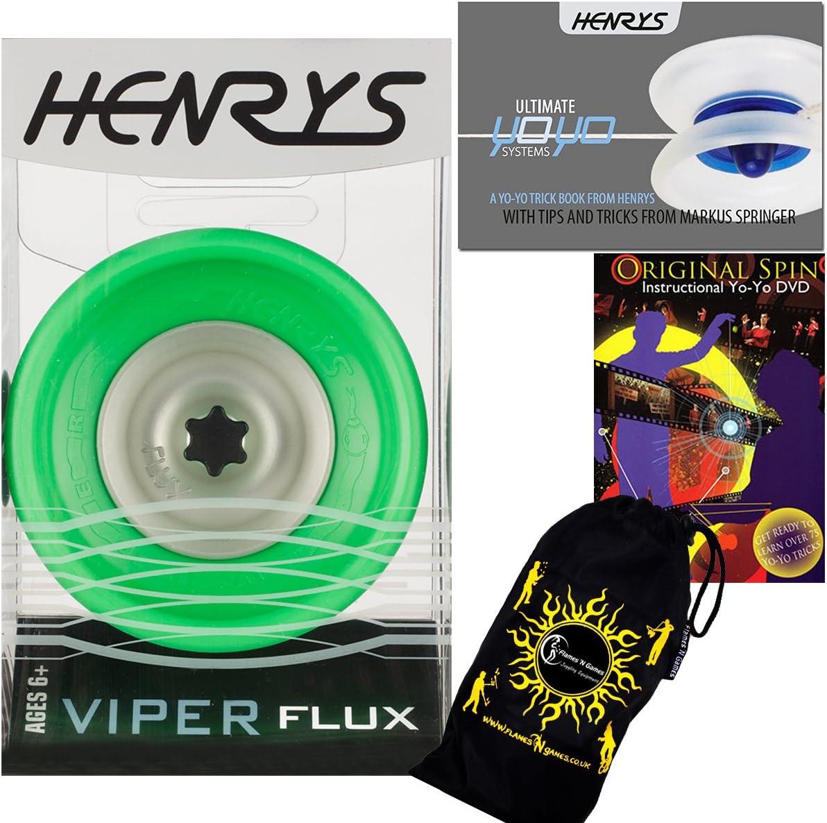 Henrys VIPER FLUX Pro YoYo String Green Professional Cheap mail order Sacramento Mall shopping 4A Off
