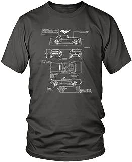 Men's 1966 Ford Mustang GT Blueprints T-Shirt