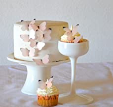 Edible Butterflies © - Small Pastel Pink Set of 24 - Cake and Cupcake Toppers, Decoration