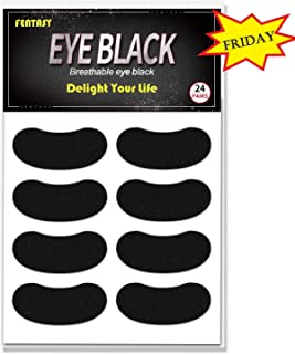 Fentasy Eye Black Stickers for Kids - Breathable Eye Black Made by Cotton Material Customizable Lettering 24 Pairs