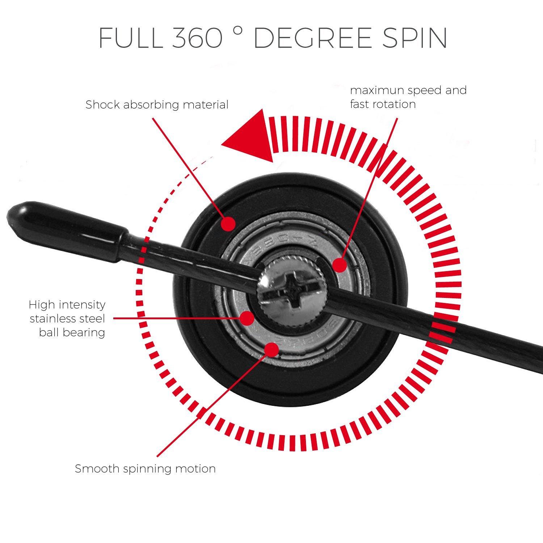 Y7 Concept Speed - Cuerda de saltar para fitness – Cable ajustable ...