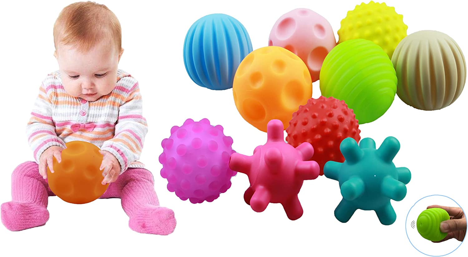 ROHSCE 10 Pack Sensory Balls for Babies Direct stock discount 12 Months Kids to Under blast sales 6 Bab
