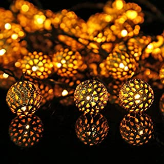 LED Solar Fairy Lights Outdoor, LED Moroccan LED Fairy Lights Outdoor, Balls Oriental Solar Fairy Lights Waterproof, LED G...