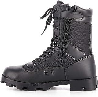 Wygwlg Bottes Militaires Tactiques du désert pour Hommes, Chaussures de sécurité de Travail pour Hommes, Bottes de Combat ...