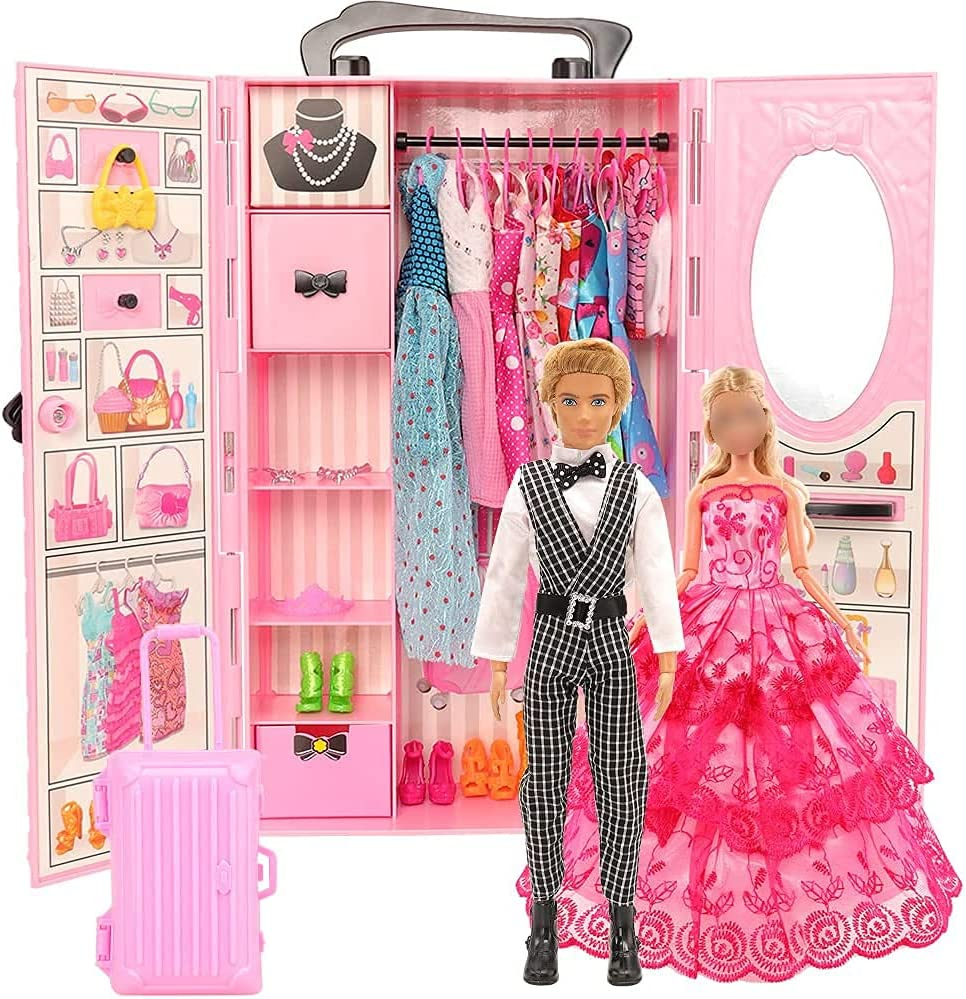 BM Closet Wardrobe 44 Pcs Doll Clothes Sales for sale for Ken Challenge the lowest price D Girl Dolls Sets