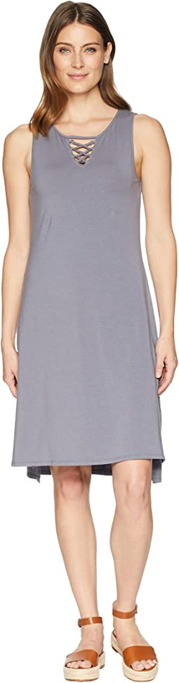 Cotton Modal Spandex Jersey Lace-Up Tank Dress