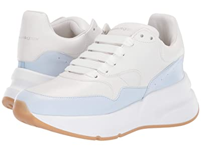 Alexander McQueen Sneaker Leather S.Gomm (Optic White/Pale Blue) Women