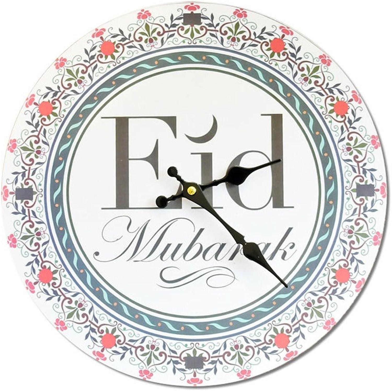 14  Retro Round Wall Clock fashion Frameless painting Wood Mute Decoration Clock