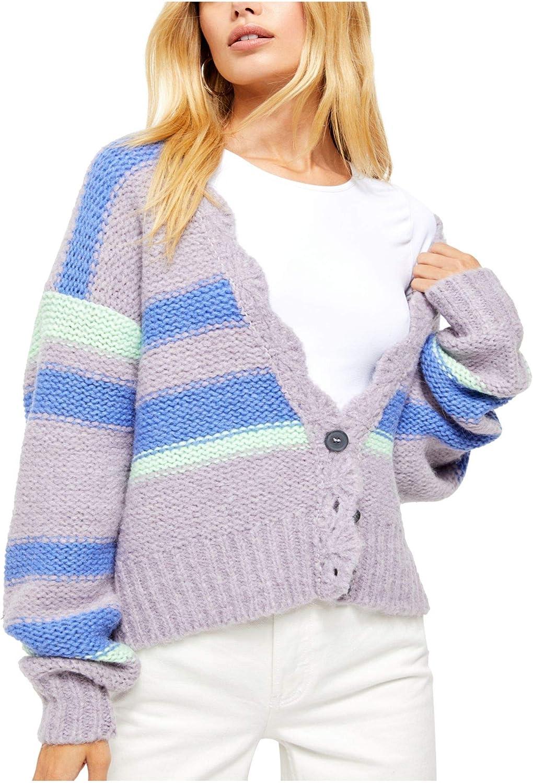 Free People Women's Fine Time Cardigan Sweater in Neptune