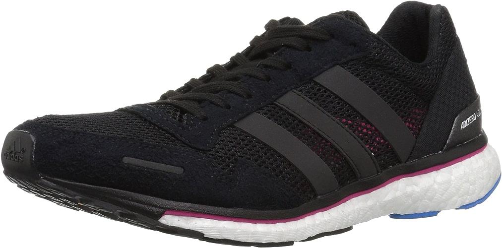 Adidas Wohommes Adizero Adios 3 Running chaussures, noir Real Magenta Bright bleu, 5 M US