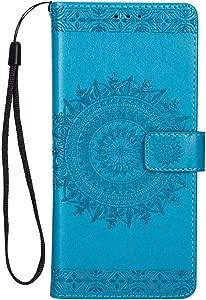 Sony Xperia XA1 Ultra Case  Bear Village  Premium Leather Flip Folio Case with Card Slot  TPU Shockproof Interior Protective Case for Sony Xperia XA1 Ultra  Blue