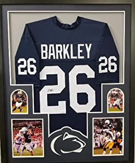 a9d9e11d3d2 Saquon Barkley Penn State Nittany Lions Signed Autograph FRAMED Custom Jersey  JSA Witnessed Certified