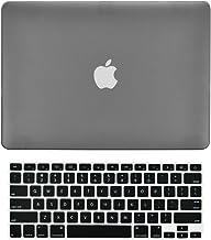 TOP CASE - Carcasa rígida de goma 2 en 1 + cubierta de teclado compatible con MacBook blanco Unibody de 13 pulgadas (A1342...