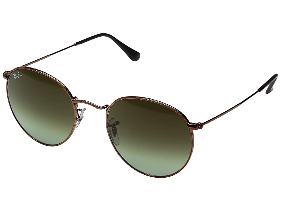 Ray-Ban 0RB3447 Round Metal Classic 53mm (Medium Bronze/Green Gradient) Fashion Sunglasses
