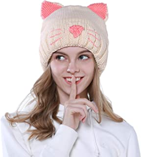 Winter Hats for Women Beanie Hat Cat Ear Winter Warm Cute Ski Cap