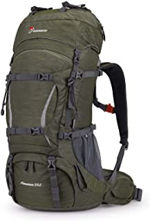 MOUNTAINTOP Mochila de trekking para adultos de 70 l, con funda para la lluvia