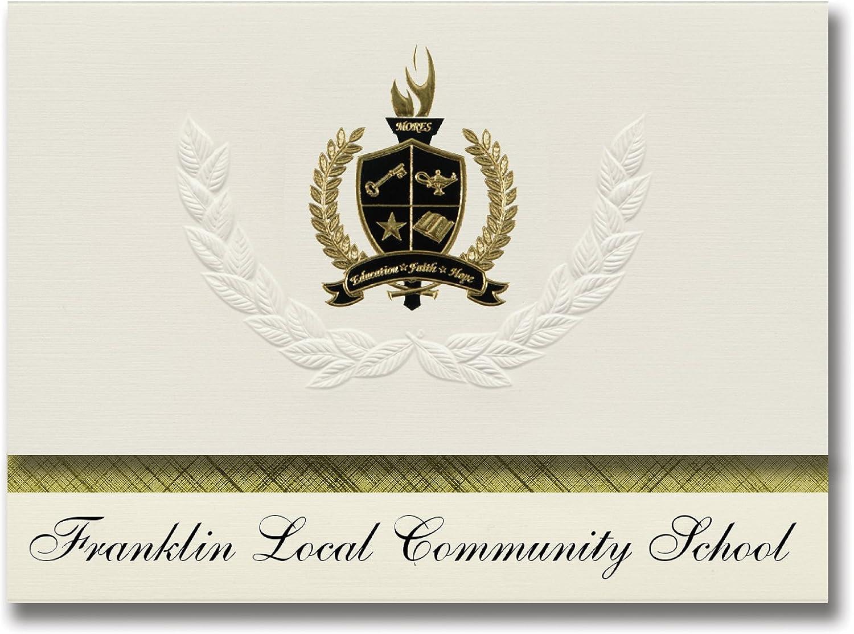 Signature Announcements Franklin Local Local Local Community School (Rosaville, OH) Abschlussankündigungen, Präsidential-Stil, Grundpaket mit 25 Goldfarbenen und schwarzen Metallfolienversiegelungen B079624FFN | Ich kann es nicht ablegen  e0b18f