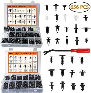 MUKOOL 415pcs Auto Body Push Pin Rivet Clips+240pcs Car...