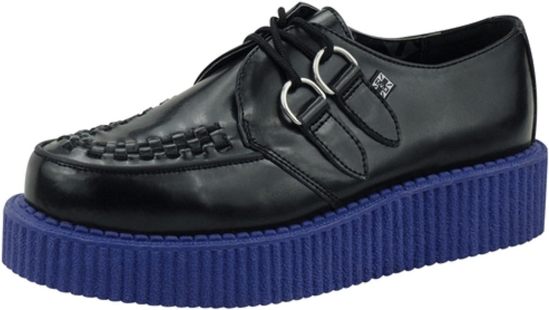 T.U.K. T.U.K. T.U.K. A8578 TUK Unisex skor Mondo Lo Creeper svart läder blå Sole  högkvalitativa varor och bekväm, ärlig service