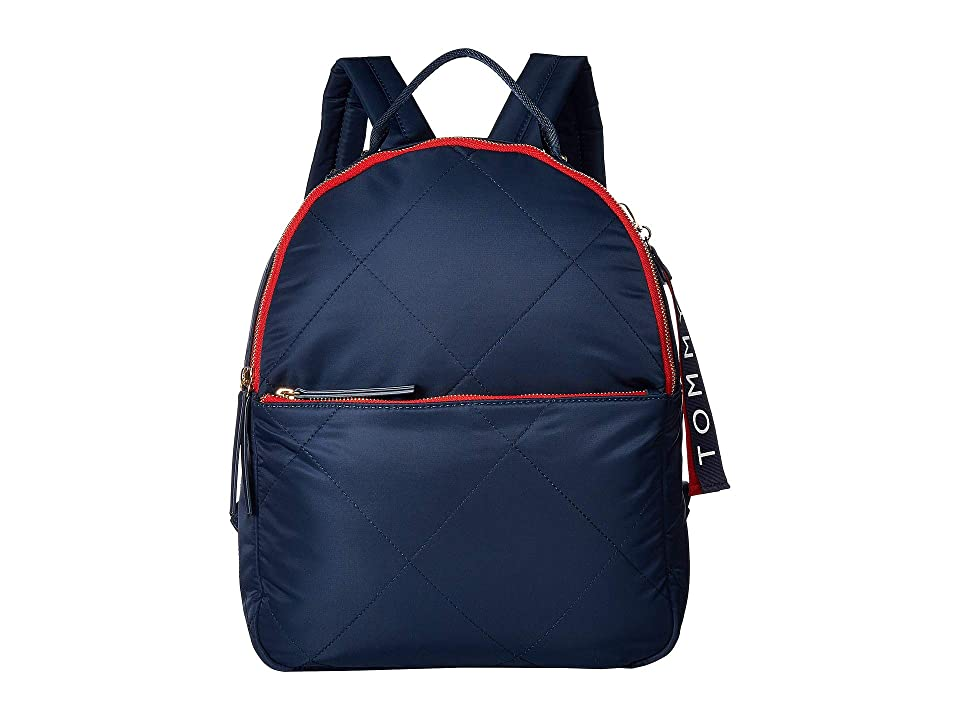 Tommy Hilfiger Kensington Quilt Nylon Backpack (Tommy Navy) Backpack Bags