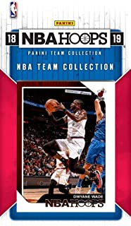 Miami Heat 2018 2019 Hoops Basketball Factory Sealed 8 Card Team Set with Dwyane Wade, Goran Dragic, Dion Waiters Plus