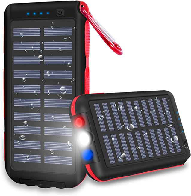 CXLiy 25,000mAh Portable Solar Power Bank For Outdoor Activities, Smartphone,Tablet and More
