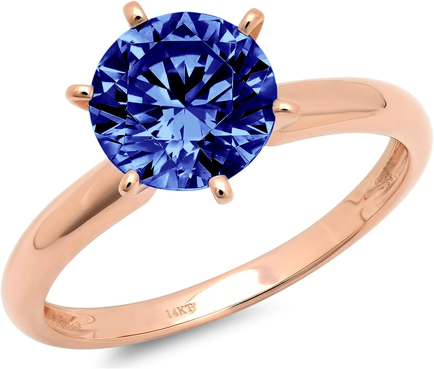 0.50 ct Brilliant Round All items free shipping Cut Ta Simulated It is very popular Flawless Solitaire Blue