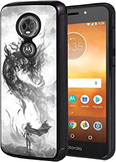 Moto G7 Play Case, Slim Anti-Scratch TPU Rubber Protective Case Cover for Motorola Moto G7 Play - Chinese Style Ink Painting Dragon