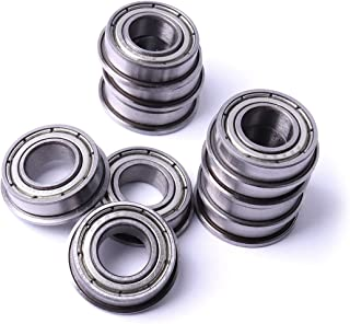 Atoplee 10pcs F605ZZ 5x14x5mm Flanged Miniature Double Shielded Ball Bearing Pulley