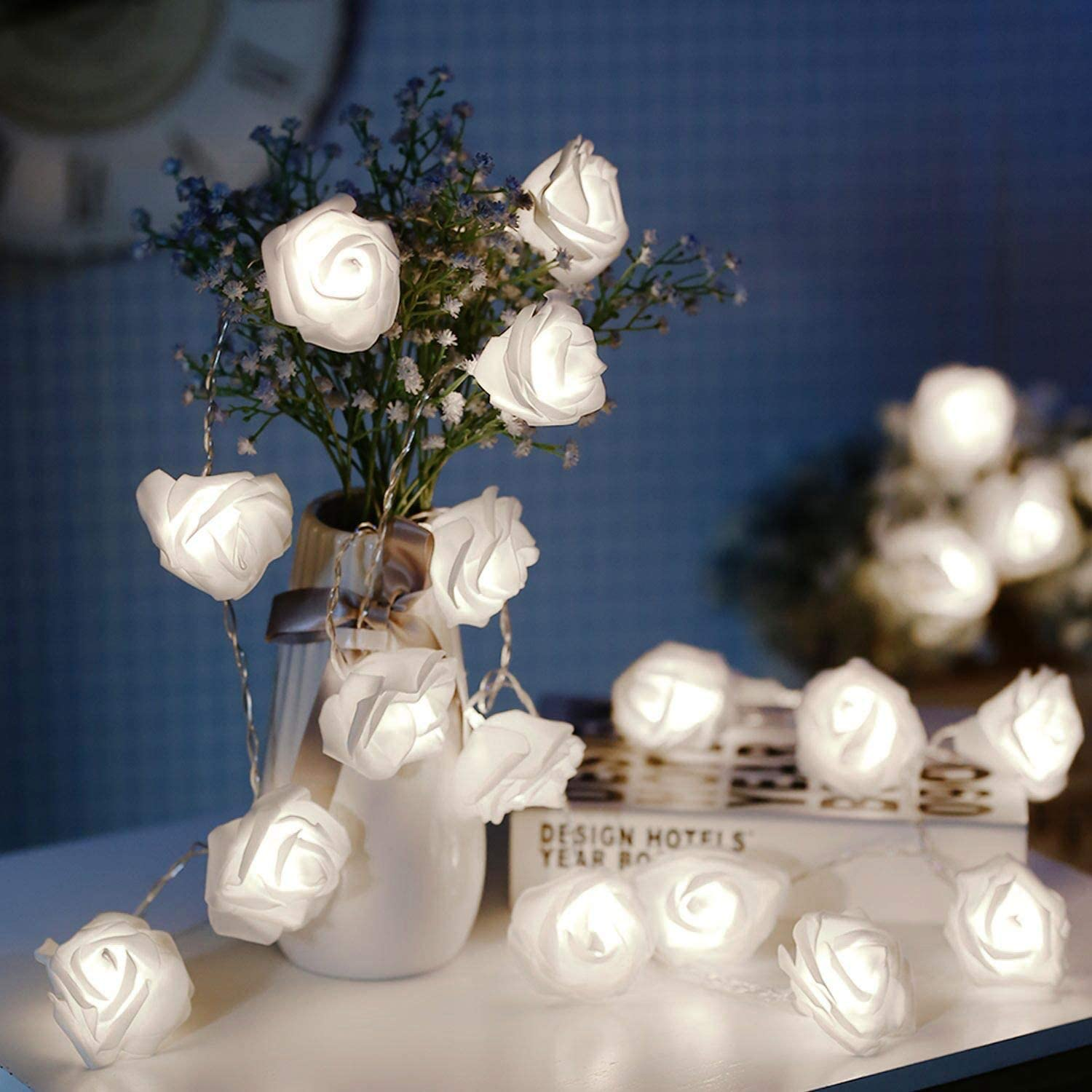 JMEXSUSS 30 LED Battery Operated Year-end gift Sacramento Mall String Premium 16. Rose Lights