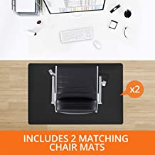 "Desk Chair Mat for Hardwood Floor – Two Piece MEGA Saver Pack of Premium Office Desk Accessories | Two Hard Floor Protectors | Multiple Colors Available | 36""x48"" & 48""x60"" – Black"
