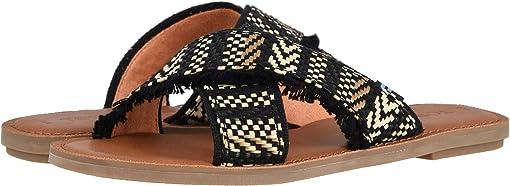 Black Geometric Woven