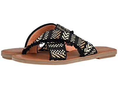 TOMS Viv (Black Geometric Woven) Women